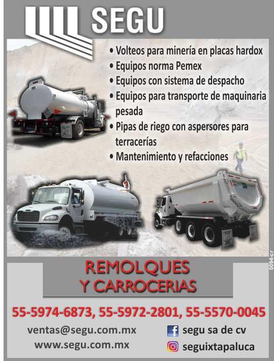 Fabricacion y Venta de Remolques y Carrocerias, Tolvas, Pipas y Tanques, Volteos, Camas Bajas, Plataformas, Gondolas.