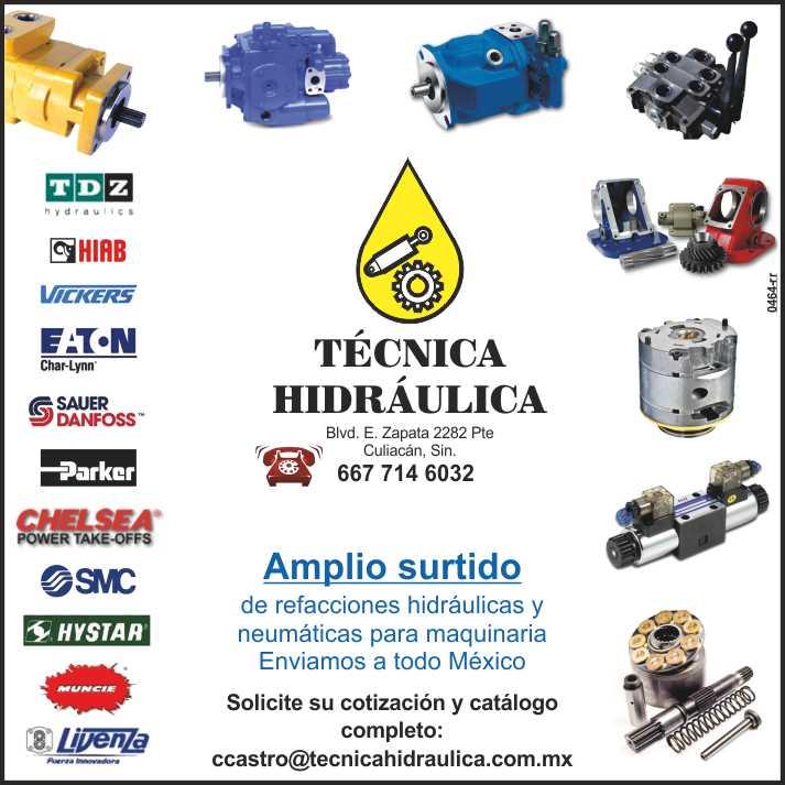 Todos los componentes hidraulicos para maquinaria. Fabricamos Cilindros especiales, bombas, tomas de fuerza, cables de control,  Respaldos, Retenes, Sellos Oring, extensa variedad de repuestos, etc.