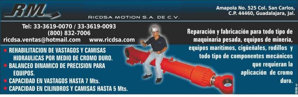 Reparacion y fabricacion para todo tipo de maquinaria pesada equipos de mineria equipos maritimos cigueñales rodillos y todo tipo de componentes mecanicos que requieran la aplicacion de cromo duro