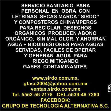 Plantas de Reciclaje de Aguas  Residuales, Camaras Biologicas  Prefabricadas, Composteros Chinamperos,  Sanitarios Ecologicos.
