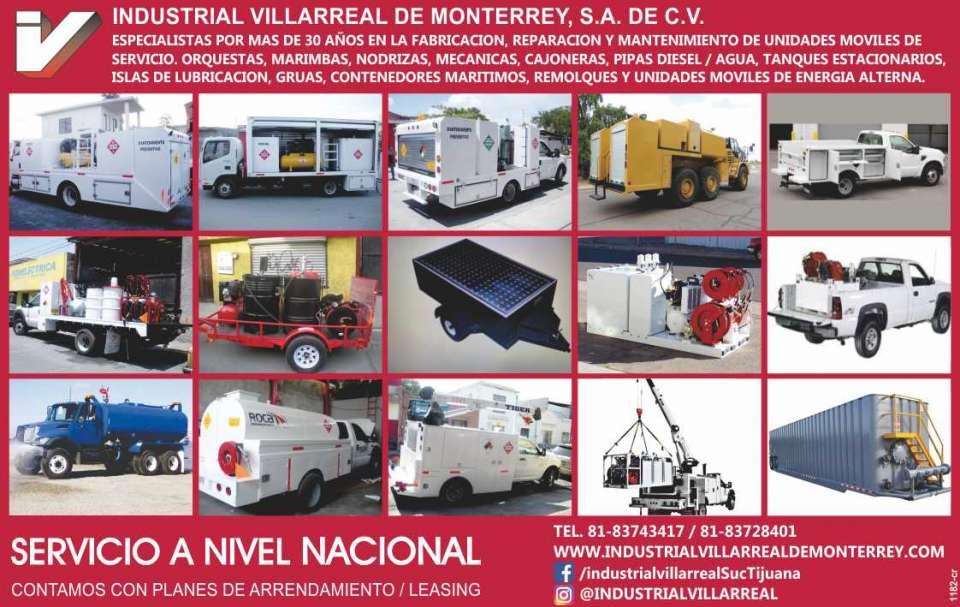 Industrial Villarreal de Monterrey,  Especialistas en sistemas de  Lubricación y acondicionamiento de  Camiones Orquesta, Marimbas, Lubri  Vans, Remolques, Grúas y Vehículos  moviles de lubricación. Servicio a  nivel nacional.
