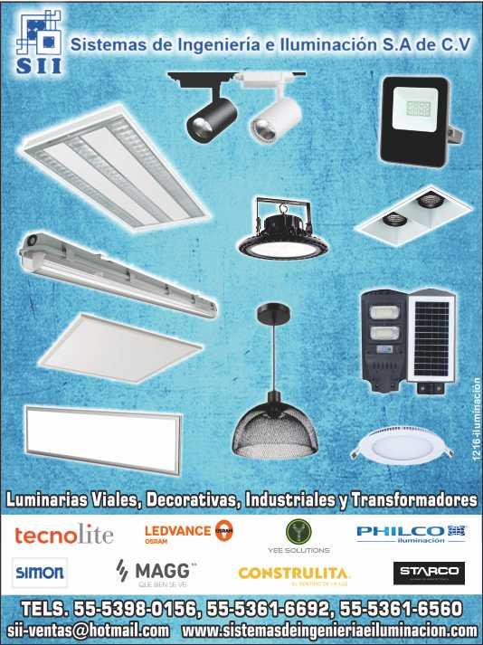Luminarias decorativas, Leds, Alumbrado  público, iluminación industrial. VENTOR, TECNO LITE, OSRAM, HAVELLS,  SIMON, MAGG, CONSTRULITA, LAITING.