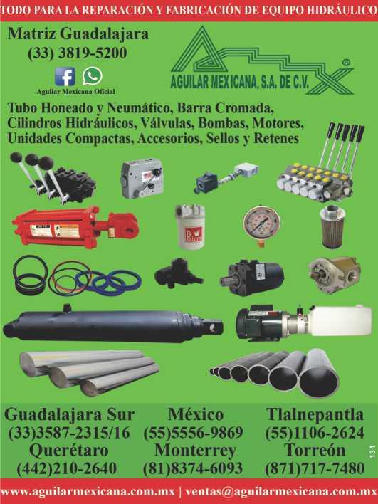 todo para reparacion y fabricacion de equipo hidráulico, tubo neumatico de acero, aluminio y laton, motores, válvulas, bombas y cilindros hidraulicos