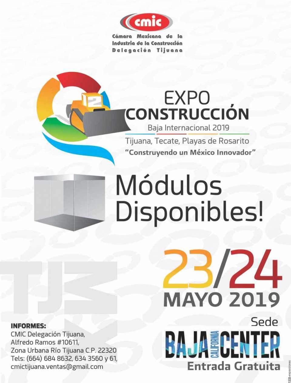 Expo Construcción Baja Internacional,   del 23 al 24 de Mayo 2019 en Baja California Center