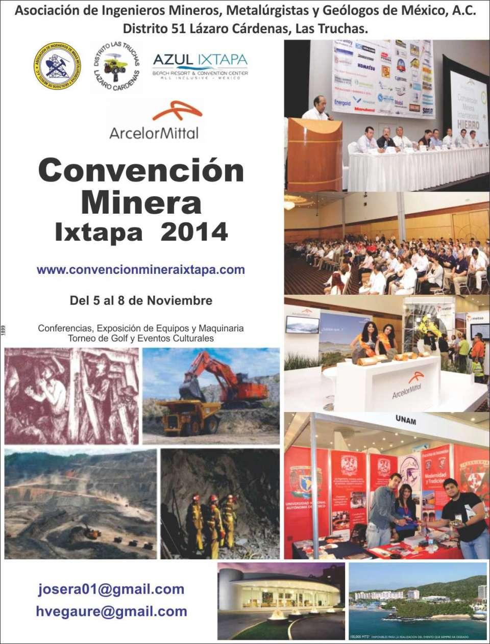 CONFERENCIAS Y EXPOSICION DE MAQUINARIA Y PRODUCTOS PARA LA MINERIA