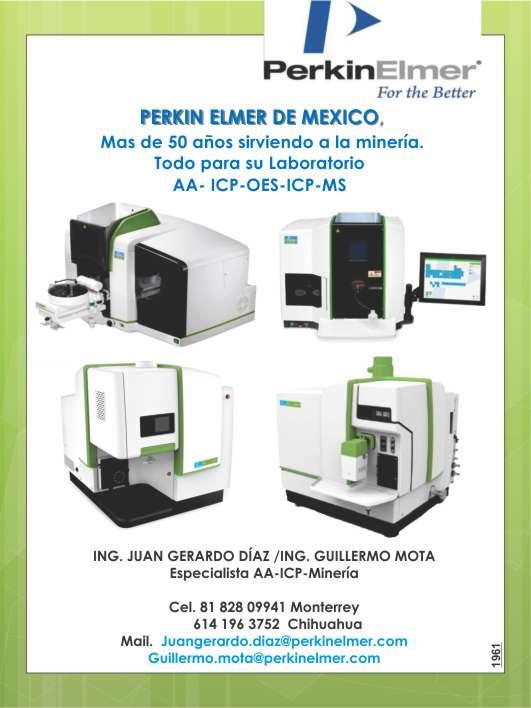 Perkin Elmer Mexico Presente siempre en la mineria con instrumentos ultrasonicos, esprectroscopios, laboratorio de control de calidad