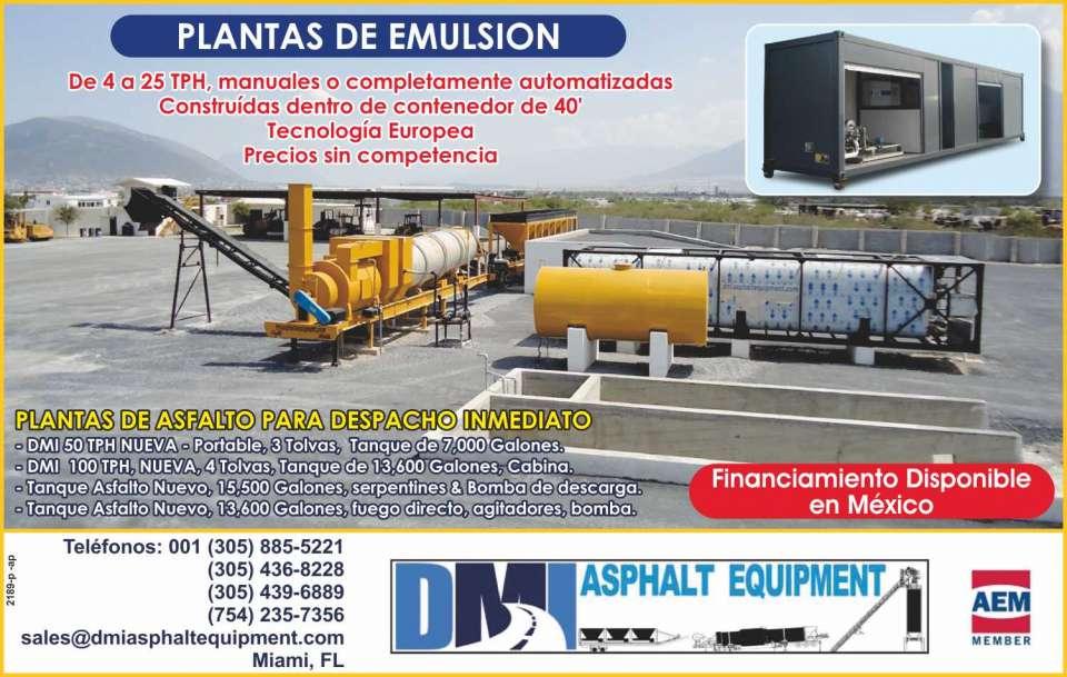 Trituradoras y plantas de asfalto. Asphalt plants and crushing equipment.