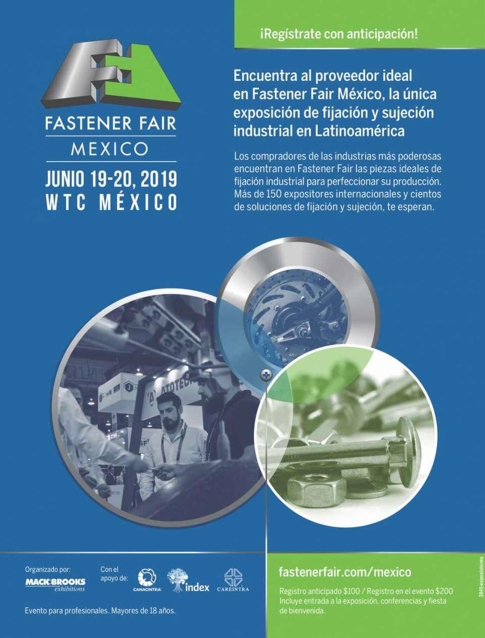 El evento líder de la tecnología de Fijación en Latinoamérica, del 20 y 21 de Junio 2017 en WTC, Ciudad de Mexico