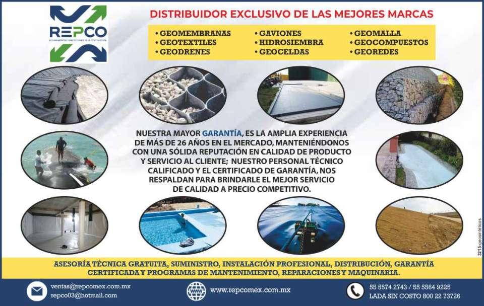 Repco recubrimientos y protecciones de la construccion for Lagunas artificiales construccion