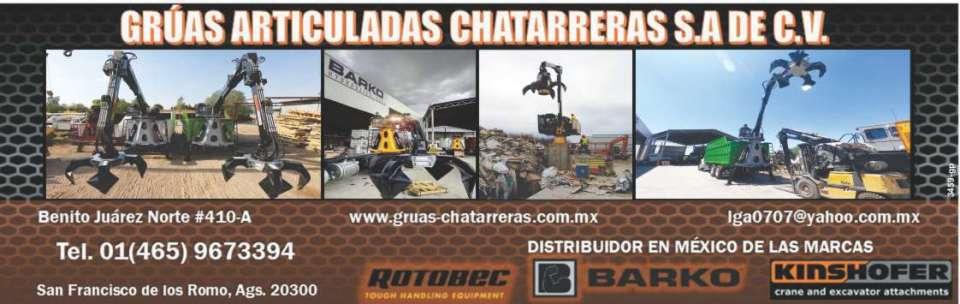 grúas articuladas chatarreras barko hydraulics rotobec kinshofer crane and excavator attachments