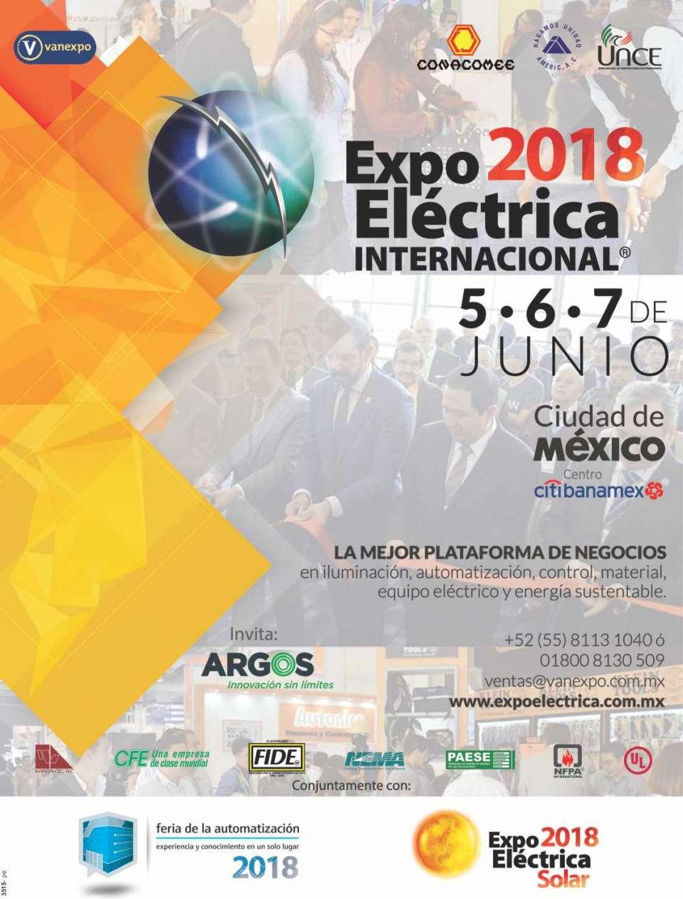 EXPO ELECTRICA INTERNACIONAL Ciudad de  Mexico del 6 al 8 de Junio 2017 en  Centro Banamex