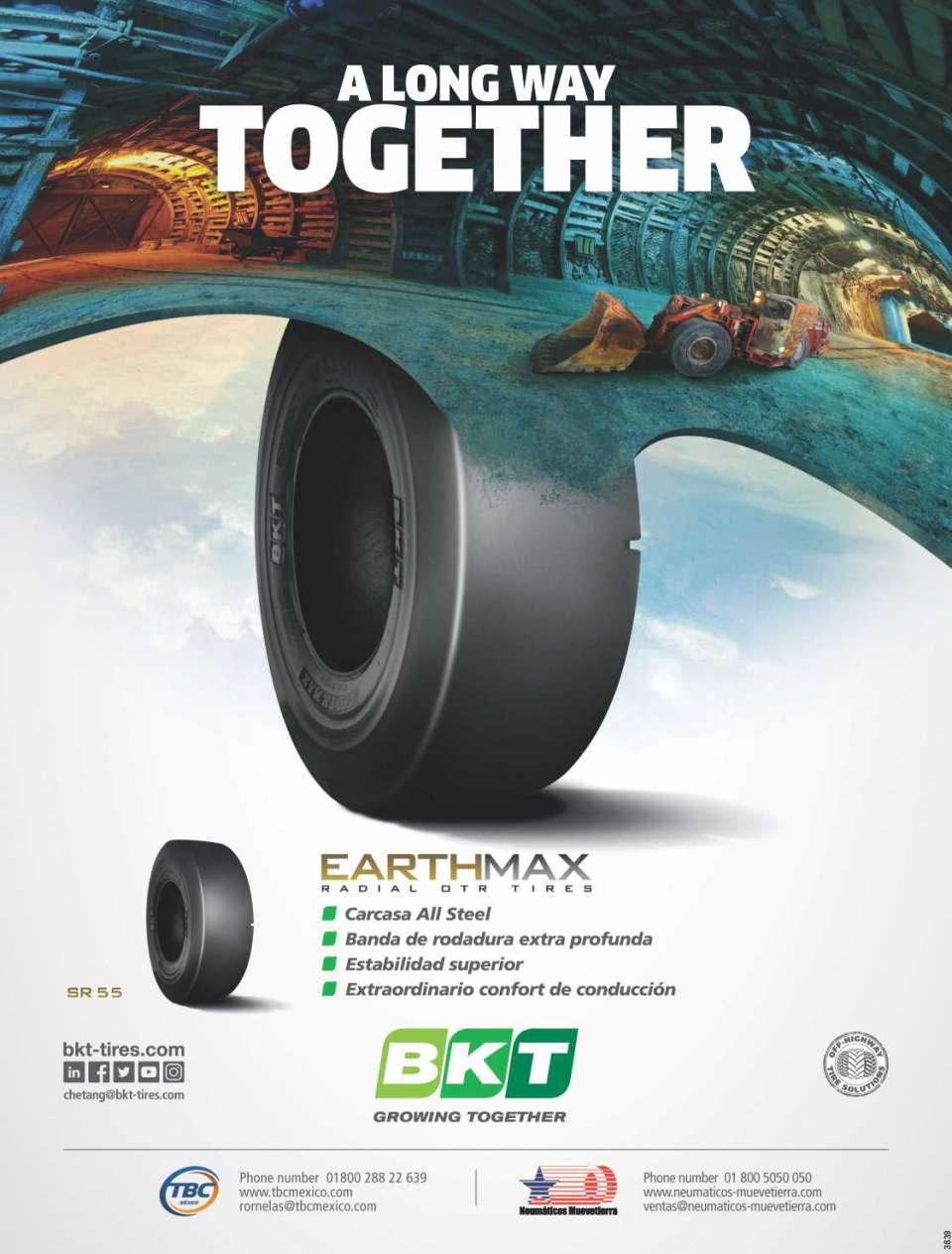 BKT - EARTHMAX - Radial OTR Tires. Neumaticos para maquinaria minera.