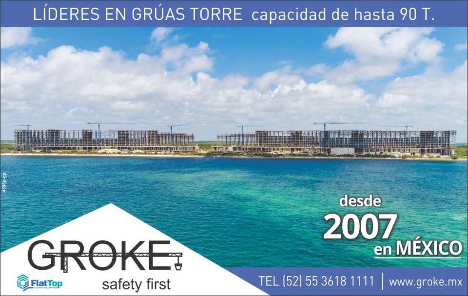 Groke, Linden Comansa. Flat Top. Renta y Venta Gruas Torre Flap top. Lideres En Gruas Torre con capacidad de hasta 90 Toneladas. Safety First. 10 Años en Mexico.