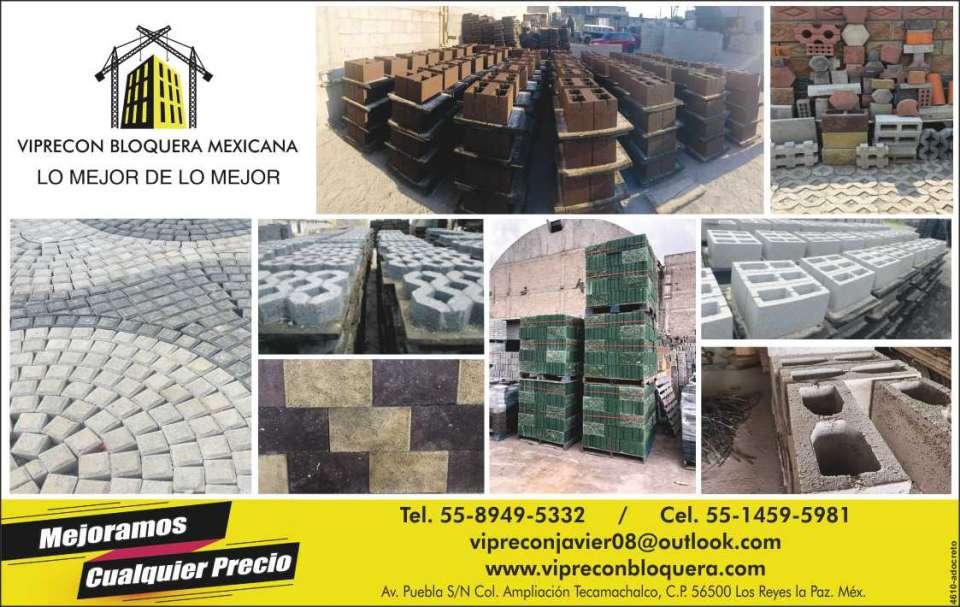 Adocretos, Adopastos, Block, tubos,  Tabicón, Vibrocomprimidos, Prefabricados  de concreto, Mejoramos cualquier precio.