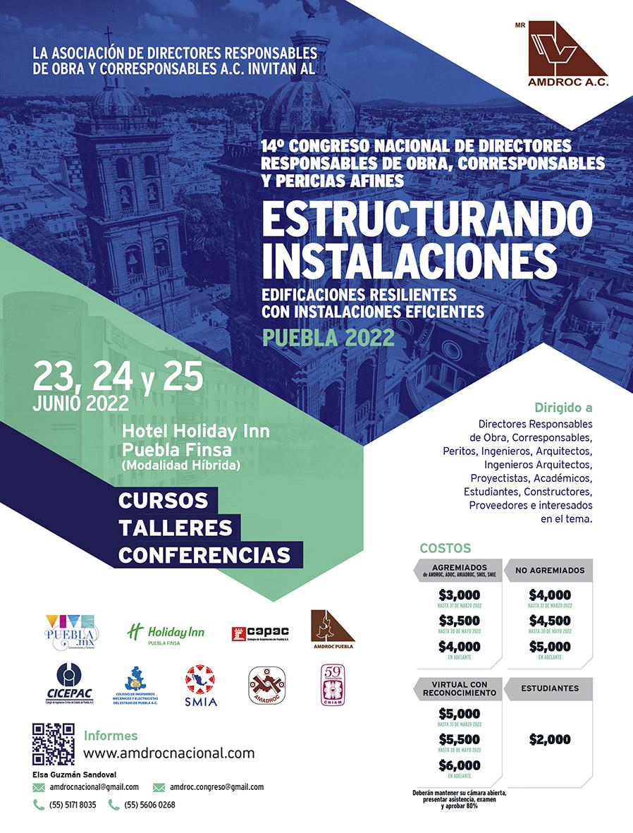 La AMDROC, A.C. invita a su Onceavo Congreso Nacional en Acapulco, Guerrero, del 15 al 17 de Junio 2017. Asociación de Directores Responsables de Obra y Corresponsables Unidos.
