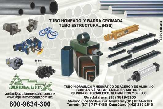 tubo honeado, tubo estructural (hss), barra cromada, tubo hidráulico y neumático de acero y aluminio, bombas, válvulas, unidades, motores, cilindros hidráulicos, neumaticos y sellos