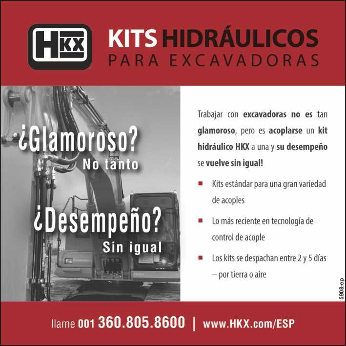 Kits hidraulicos para excavadoras. Kits disponibles para multiples accesorios, rapida y facil instalacion, componentes de calidad, nueva tecnologia.