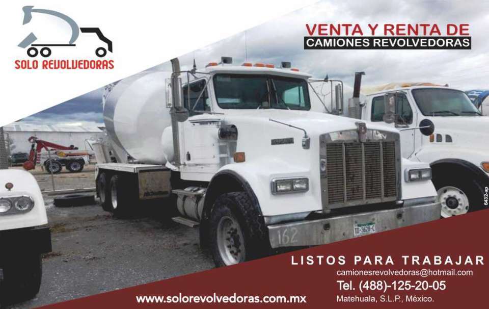 Venta y Renta de Camiones Revolvedoras  * Camiones revolvedoras  * Bombas de concreto  * Plantas móviles  * Maquinaria pesada