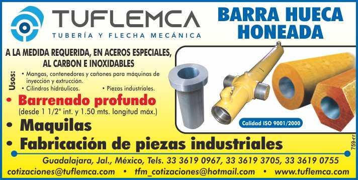 Fabricamos sobre pedido piezas especiales, barras huecas honeadas, cilindros hidraulicos, camisas hidraulicas, maquilas.