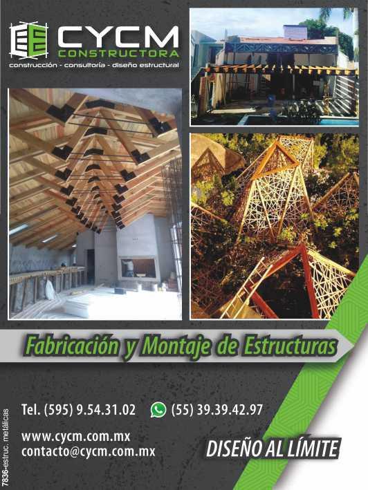 Calculo Estructural, Diseño y Construcción en Acero, Concreto y Bambu.