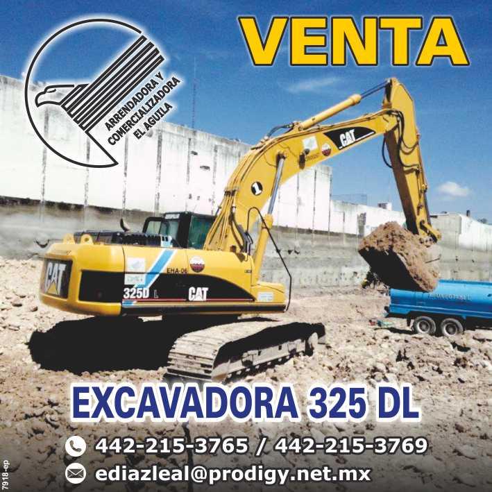 Arrendadora y Comercializadora el  Aguila.  Venta Tractor D6R Serie III,  Matriz Cd. de México, Sucursal Queretaro, Qro.