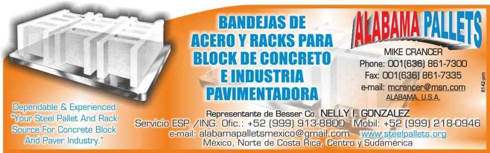 Bandejas de acero y racks para block de concreto e industria pavimentadora, contamos con servicio en español,