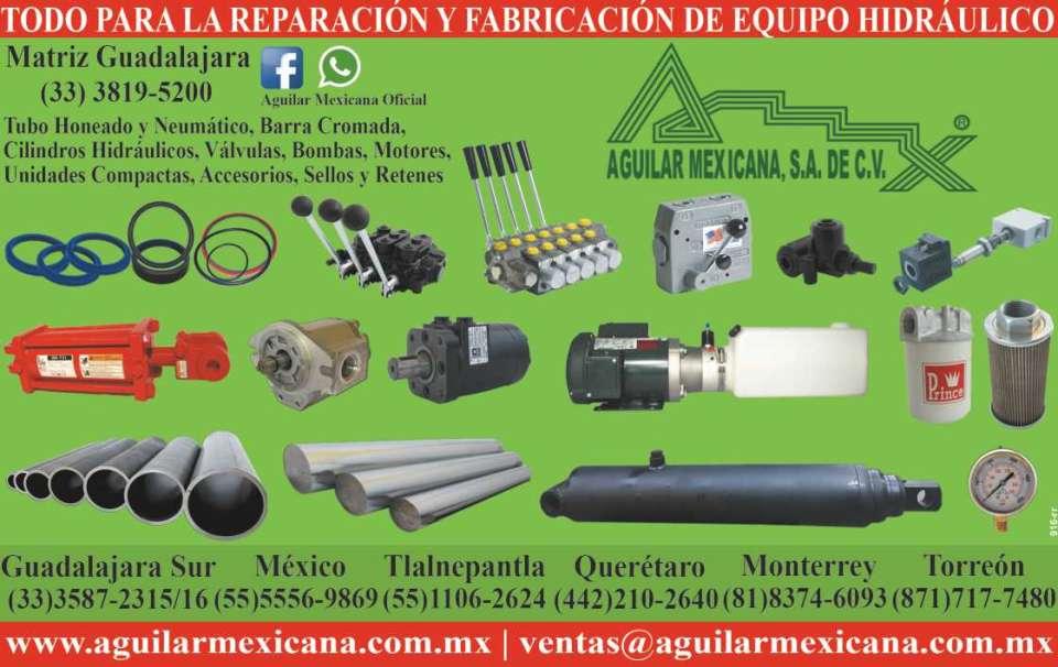 todo para reparacion y fabricacion de equipo hidraulico tubo neumatico de acero aluminio laton motores valvulas bombas y cilindros hidraulicos