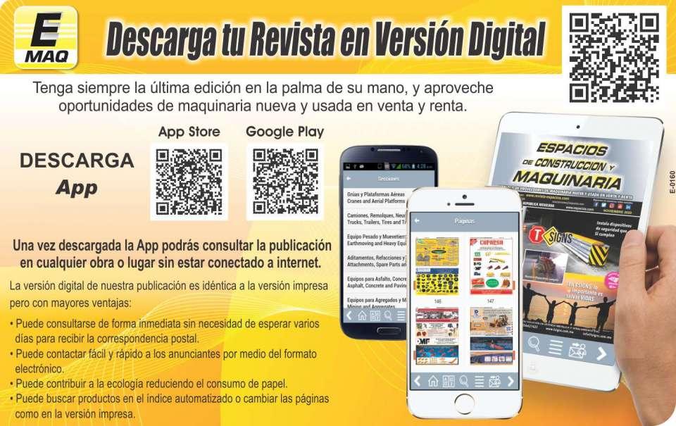 """Descargue la APPs de la Revista Espacios en version digital. Busque """"Revista Espacios"""" en Google Play o en App Store."""